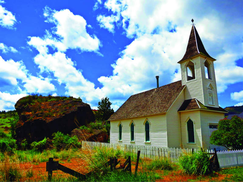 Lonerock Church in Condon on your John Day River Territory Tour