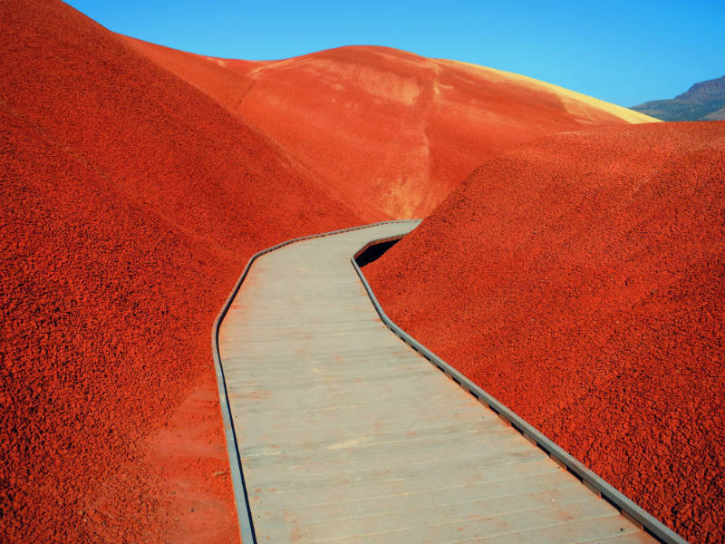 Painted Cove Trail through the Painted Hills - Photo by Elizabeth Farrar