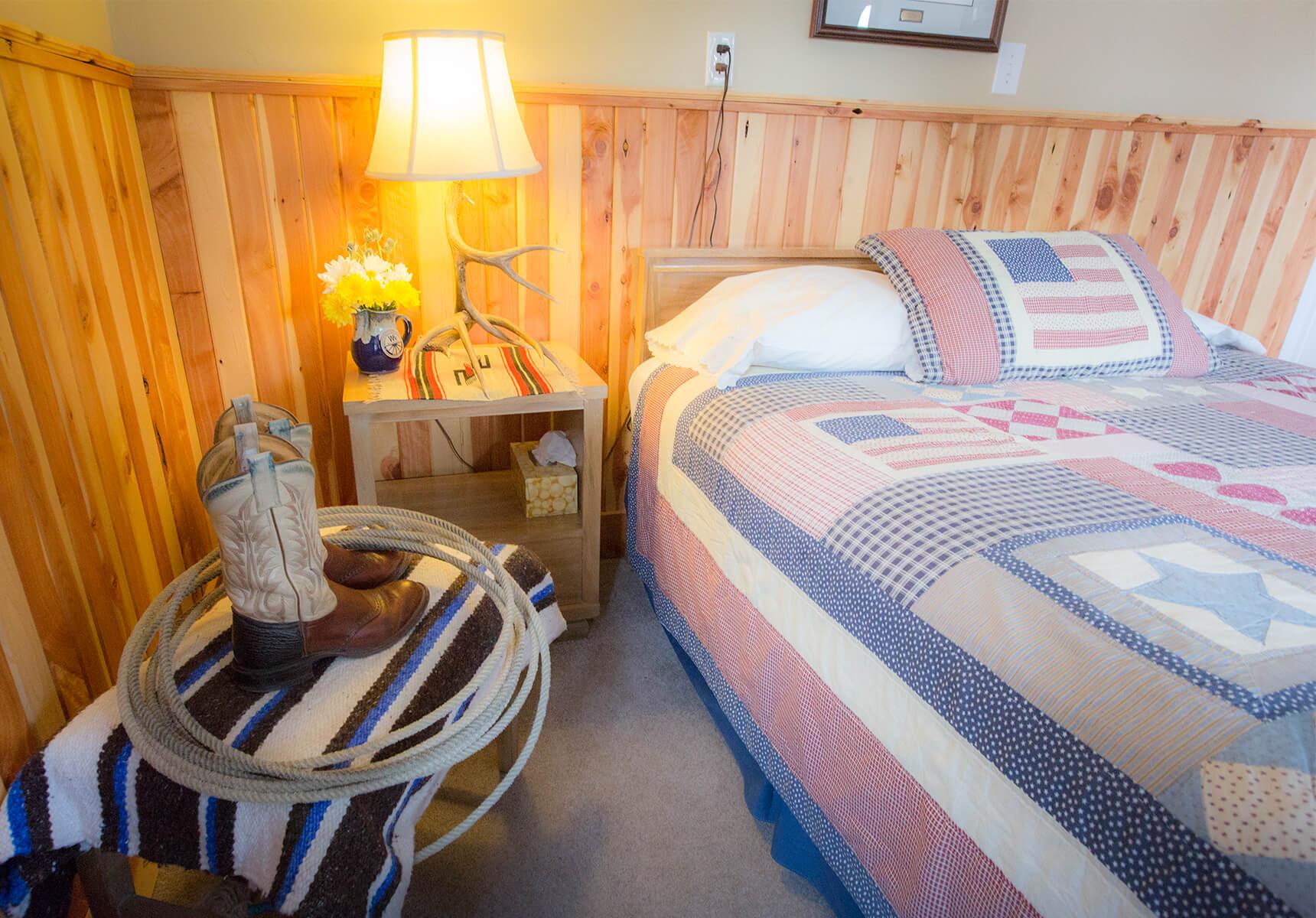 Buckaroo Room bedside table