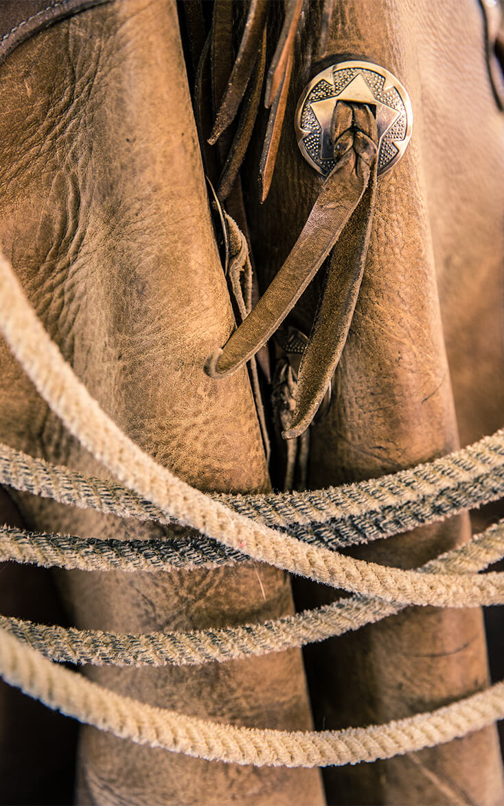 leather and rope