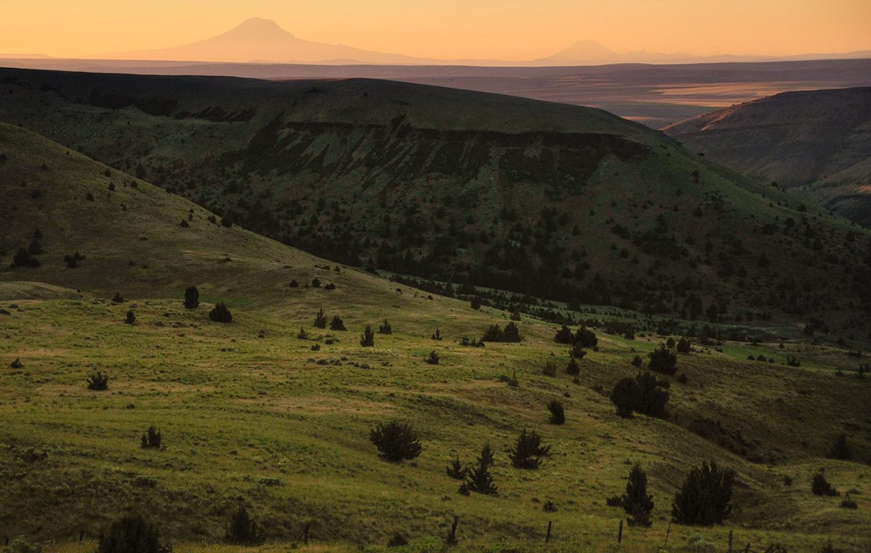 Sunset in the high desert hills