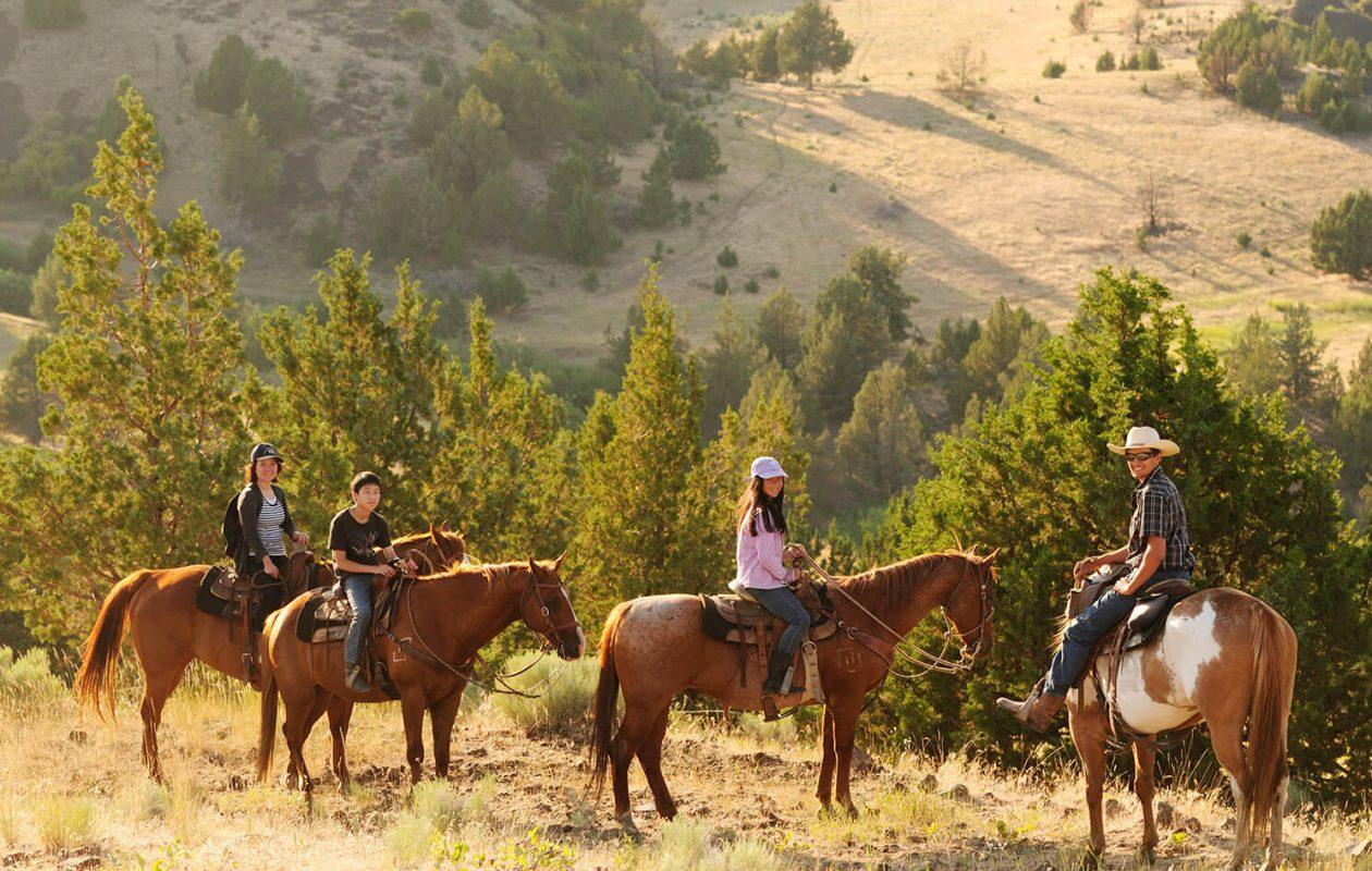 Family on horseback